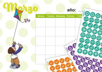 Calendar and journal for teachers. Combo. (Spanish)