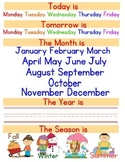 Calendar binder pre-k and kindergarten