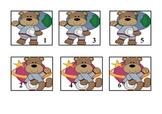 Calendar cards with a Space bear