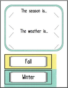 Calendar combo (weather, days of the week, and days in school)