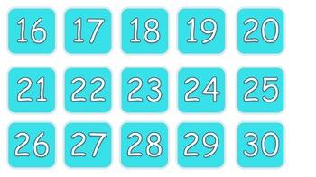 Calendar days blue