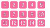 Calendar days pink white text