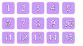 Calendar days 1 - 31 purple white text