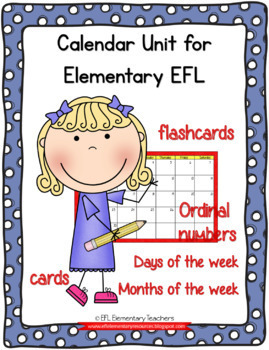 Calendar resources  for Elementary English Learners