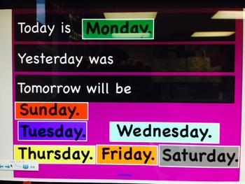 Daily Calendar Activities