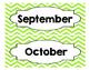 Calendar for Pocket Chart Chevron