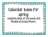 Calendar for spring