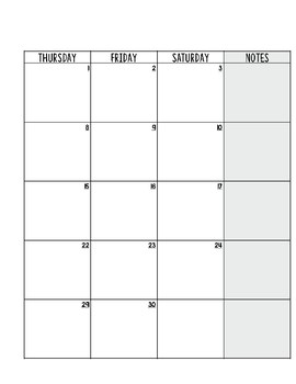 Calendar for the 2017-2018 School Year [Teal]