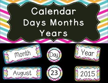 Calendar for wall display