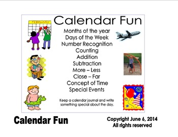 Calendar fun activities from Maybe One Day Activity Guide