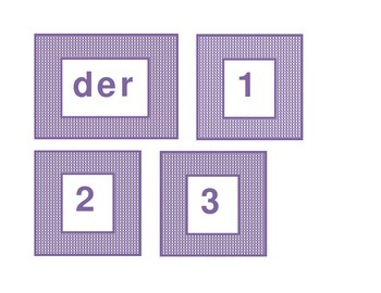 Calendar headings purple plaid in German