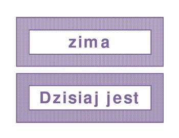 Calendar headings purple plaid in Polish