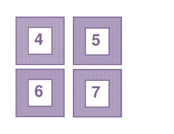 Calendar headings purple plaid in Polish