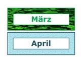 Calendar Headings Seasonal in German