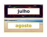 Calendar headings seasonal in Portuguese