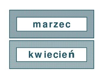 Calendar headings teal diamonds in Polish