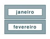 Calendar headings teal diamonds in Portuguese