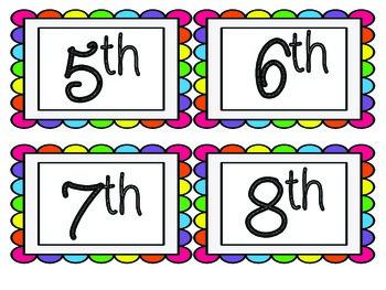 Calendar in ENGLISH