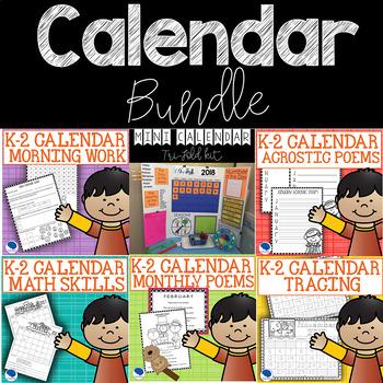 Calendar k-2 Skills Bundle