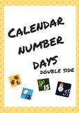Calendar number days