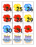 Calendar numbers with patterning - November