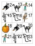 Calendar numbers with patterning - October