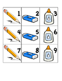 Calendar numbers with patterning - September