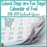 Calendar of Fun 2018 - 2019 School Year