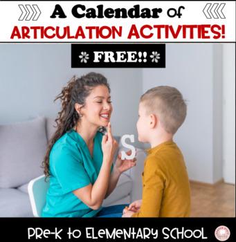 Calendar of Speech Activities for one month!