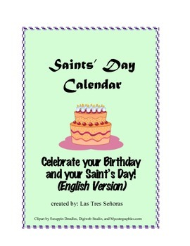 Calendar of the Saints English Version