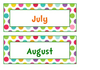 Calendar pack sample {Colored Spots}