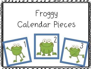 Calendar pieces: Froggy