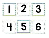 Calendar pieces for pocket chart