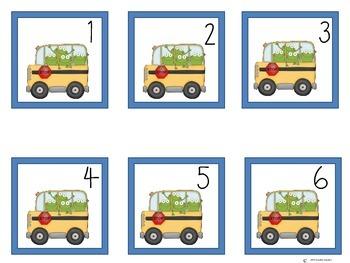 Calendar pieces: froggy back to school