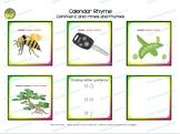 Calendar routine - Exploring common E, I and O rimes throu