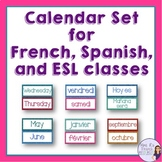French Calendar set - includes Spanish and ESL words