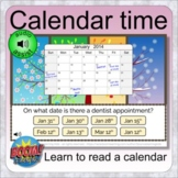 Calendar time (49 BOOM CARDS distance learning deck - lear