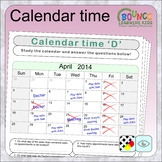 Calendar time (6 distance learning worksheets for Visual p