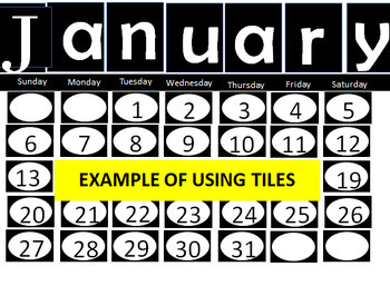 Calendar Tiles with Holiday Icons