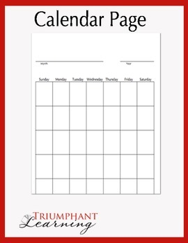 Calendar with Place Value