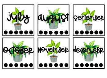Calendar with Plants