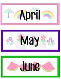 Calendar with patterned pieces and special day markers
