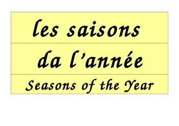 Seasons Calendar in French