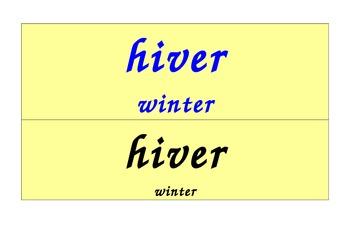 Seasons Calendar in French