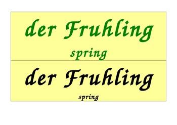 Seasons Calendar in German