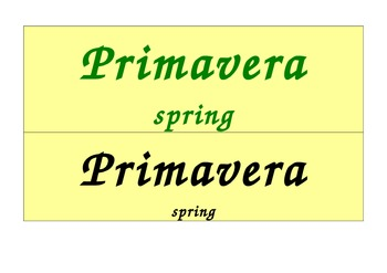Seasons Calendar in Portuguese