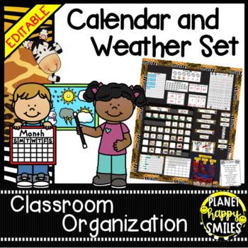 Calendar/Weather Set ~ Jungle/Safari Theme