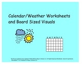 Calendar/Weather Worksheets and Large Interactive Visuals for Kids with Autism