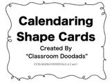 Calendaring Shape Cards