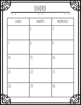 Calendario Diciembre.Calendario 2019 Enero A Diciembre No Incluye Sabado Y Domingo